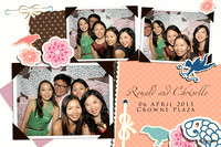 April 06, Ronald and Chriselle's  Wedding Booth 1