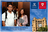 Oct. 13, Meet the University of Melbourne and Trinity College in Manila