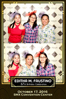 Oct. 17, Editha M. Faustino 67th Birthday Booth 2