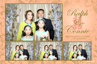 June 15, Ralph and Connie's wedding