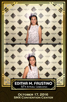 Oct. 17, Editha M. Faustino 67th Birthday Booth 4